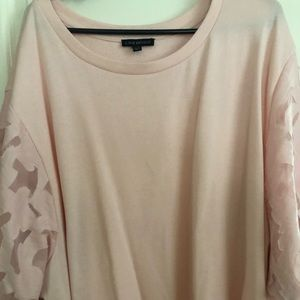 Lightweight pink sweater, perfect for spring!